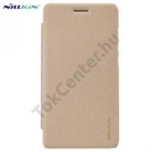 Huawei Honor 4C NILLKIN SPARKLE műanyag telefonvédő (mikroszálas bőr flip, oldalra nyíló) ARANY