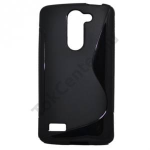 LG L80+ L Bello (D331)  Telefonvédő gumi / szilikon (S-line) FEKETE