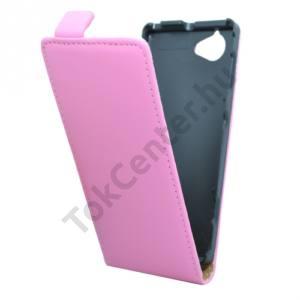 Sony Xperia L (C2105) Tok álló, bőr (FLIP, mágneses) RÓZSASZÍN