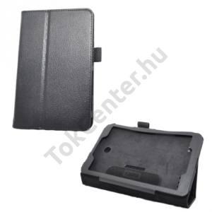 LG G Pad 8.0 (V480) Tok álló, bőr (FLIP, mágneses, oldalra nyíló, asztali tartó funkció, tolltartó) FEKETE
