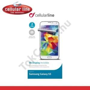 Samsung Galaxy S V. (SM-G900) Képernyővédő fólia törlőkendővel (2 db-os, teljesen átlátszó) CLEAR GLASS
