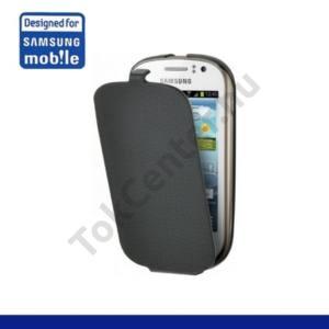 Samsung Galaxy Fame (GT-S6810) Tok álló, bőr, Flip, FEKETE