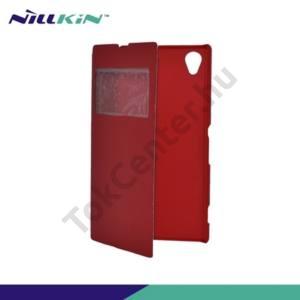 Sony Xperia Z1 (C6903) NILLKIN VICTORY műanyag telefonvédő (bőr flip, oldalra nyíló, hívószámkijelzés, S-View Cover) PIROS