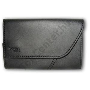 Nokia N96 Tok, fekvő, bőr, FEKETE