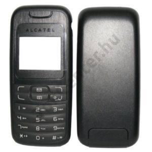 Univerzális Készülék előlap (billentyűzet) és akkufedél FEKETE - BONTOTT (Alcatel OT-202)