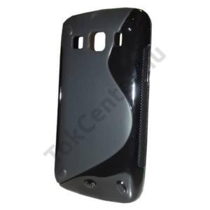 Samsung Galaxy Xcover (GT-S5690) Telefonvédő gumi / szilikon (S-line) FEKETE