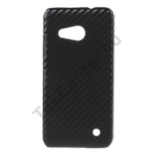 Microsoft Lumia 550 Műanyag telefonvédő (karbon minta) FEKETE