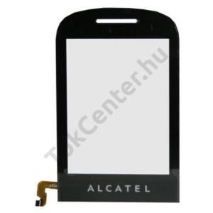 Alcatel OT-706 Plexi ablak, érintőpanellel FEKETE