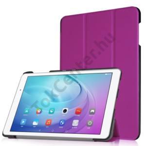 Huawei Mediapad T2 10.0 Pro Tok álló, bőr (FLIP, oldalra nyíló, TRIFOLD asztali tartó funkció) LILA