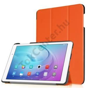 Huawei Mediapad T2 10.0 Pro Tok álló, bőr (FLIP, oldalra nyíló, TRIFOLD asztali tartó funkció) NARANCS