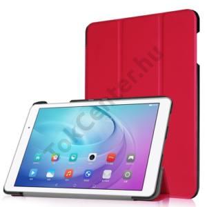 Huawei Mediapad T2 10.0 Pro Tok álló, bőr (FLIP, oldalra nyíló, TRIFOLD asztali tartó funkció) PIROS