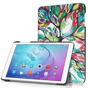 Huawei Mediapad T2 10.0 Pro Tok álló, bőr (FLIP, oldalra nyíló, TRIFOLD asztali tartó funkció, faminta) SZÍNES
