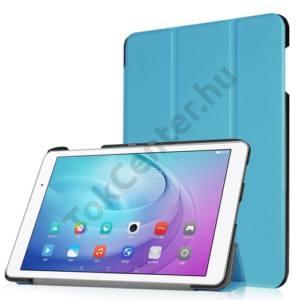 Huawei Mediapad T2 10.0 Pro Tok álló, bőr (FLIP, oldalra nyíló, TRIFOLD asztali tartó funkció) VILÁGOSKÉK