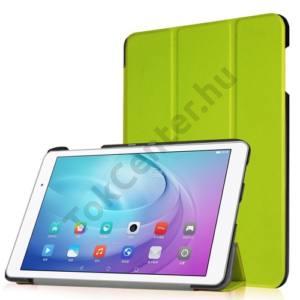 Huawei Mediapad T2 10.0 Pro Tok álló, bőr (FLIP, oldalra nyíló, TRIFOLD asztali tartó funkció) ZÖLD