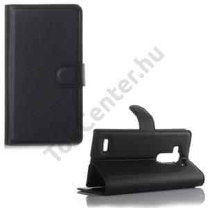 LG G4S Beat (H735) Tok álló, bőr (FLIP, oldalra nyíló, asztali tartó funkció) FEKETE