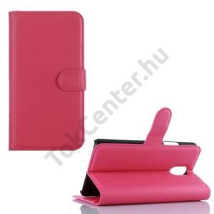 Lenovo Vibe P1m Tok álló, bőr (FLIP, oldalra nyíló, asztali tartó funkció) RÓZSASZÍN