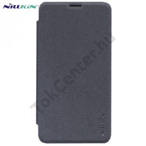 Microsoft Lumia 640 NILLKIN SPARKLE műanyag telefonvédő (mikroszálas bőr flip, oldalra nyíló) FEKETE