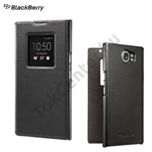 BlackBerry Priv Tok álló, bőr (FLIP, oldalra nyíló, S-View) FEKETE