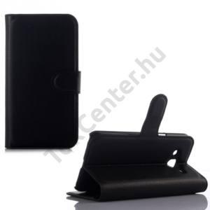Samsung Galaxy J2 (SM-J200) Tok álló, bőr (FLIP, oldalra nyíló, asztali tartó funkció) FEKETE