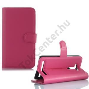 Asus Zenfone 2 Laser (ZE550KL) Tok álló, bőr (FLIP, oldalra nyíló, asztali tartó funkció) MAGENTA