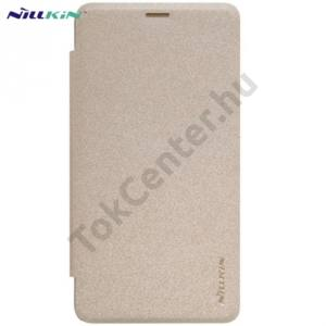 Microsoft Lumia 950 NILLKIN SPARKLE műanyag telefonvédő (mikroszálas bőr flip, oldalra nyíló) ARANY