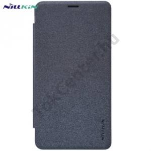 Microsoft Lumia 950 NILLKIN SPARKLE műanyag telefonvédő (mikroszálas bőr flip, oldalra nyíló) FEKETE
