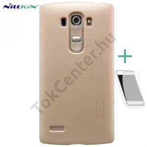 LG G4S Beat (H735) NILLKIN SUPER FROSTED műanyag telefonvédő (érdes felület, képernyővédő fólia, tisztítókendő) ARANY