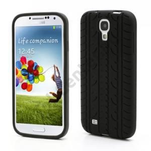 Samsung Galaxy S IV. (GT-I9500) Telefonvédő gumi / szilikon VROOM (autógumi mintázat) FEKETE