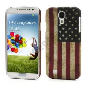Samsung Galaxy S IV. (GT-I9500) Műanyag telefonvédő (zászlóminta) USA