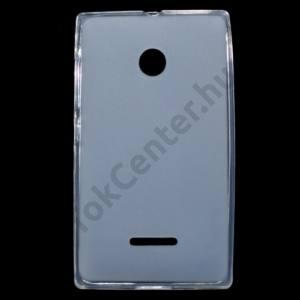 Microsoft Lumia 532 Telefonvédő gumi / szilikon (fényes keret) ÁTLÁTSZÓ