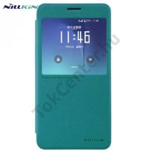 Samsung Galaxy Note 5 (SM-N920) NILLKIN SPARKLE műanyag telefonvédő (mikroszálas bőr flip, oldalra nyíló, hívószámkijelzés, S-View Cover) KÉK