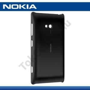 Nokia Lumia 720 Műanyag telefonvédő (vezeték nélküli töltés, QI Wireless) FEKETE