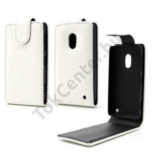 Nokia Lumia 620 Tok álló, bőr (FLIP, mágneses) FEHÉR
