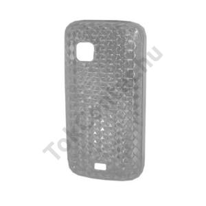 Nokia C5-03 Telefonvédő gumi / szilikon (gyémántmintás) ÁTLÁTSZÓ