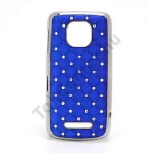 Nokia 311 Asha Műanyag telefonvédő (strasszkő) KÉK