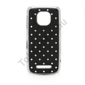 Nokia 311 Asha Műanyag telefonvédő (strasszkő) FEKETE