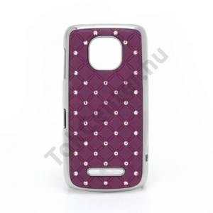 Nokia 311 Asha Műanyag telefonvédő (strasszkő) LILA