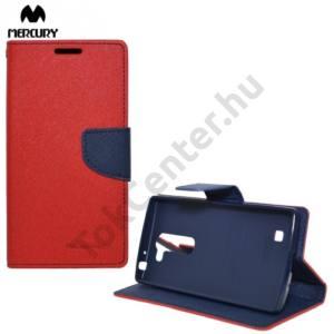 LG G4c (H525n) MERCURY Fancy Diary tok álló, bőr (FLIP, mágneses, oldalra nyíló, bankkártya tartó, asztali tartó funkció) PIROS