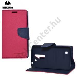 LG G4c (H525n) MERCURY Fancy Diary tok álló, bőr (FLIP, mágneses, oldalra nyíló, bankkártya tartó, asztali tartó funkció) RÓZSASZÍN
