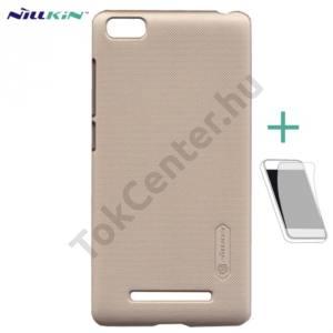 Univerzális NILLKIN SUPER FROSTED műanyag telefonvédő (érdes felület, képernyővédő fólia, tisztítókendő) ARANY Xiaomi Mi 4i