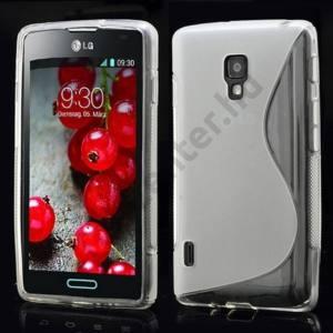 LG Optimus L7 II. (P710) Telefonvédő gumi / szilikon (S-line) ÁTLÁTSZÓ