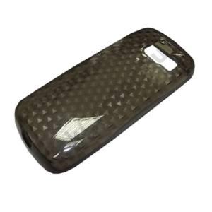 Nokia 112 Telefonvédő gumi / szilikon (gyémántmintás) FÜSTSZÍNŰ