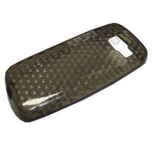 Nokia 110 Telefonvédő gumi / szilikon (gyémántmintás) FÜSTSZÍNŰ