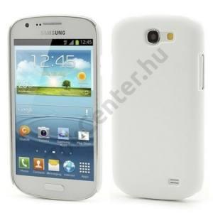 Samsung Galaxy Express (GT-I8730) Műanyag telefonvédő gumírozott FEHÉR
