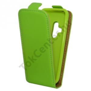 Nokia 220 Tok álló, bőr (FLIP, mágneses) ZÖLD