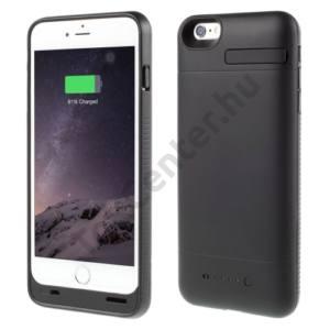Apple iPhone 6 4.7`` Műanyag telefonvédő (beépített 3200 mAh LI-Polymer akku, USB kábel, MFi Apple engedélyes) FEKETE