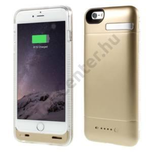 Apple iPhone 6 4.7`` Műanyag telefonvédő (beépített 3200 mAh LI-Polymer akku, USB kábel, MFi Apple engedélyes) ARANY