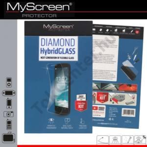 Samsung Galaxy A5 (SM-A500F) Képernyővédő fólia törlőkendővel (1 db-os, flexibilis üveg, karcálló, ütésálló, 9H) HYBRIDGLASS