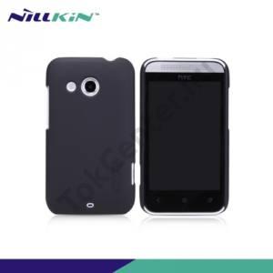 HTC Desire 200 NILLKIN SUPER FROSTED műanyag telefonvédő (gumírozott,érdes felület) FEKETE
