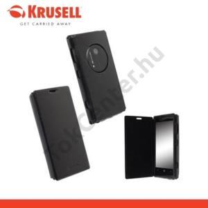 Nokia Lumia 1020 KRUSELL FlipCover DONSÖ, műanyag telefonvédő (oldalra nyíló bőr flip) FEKETE